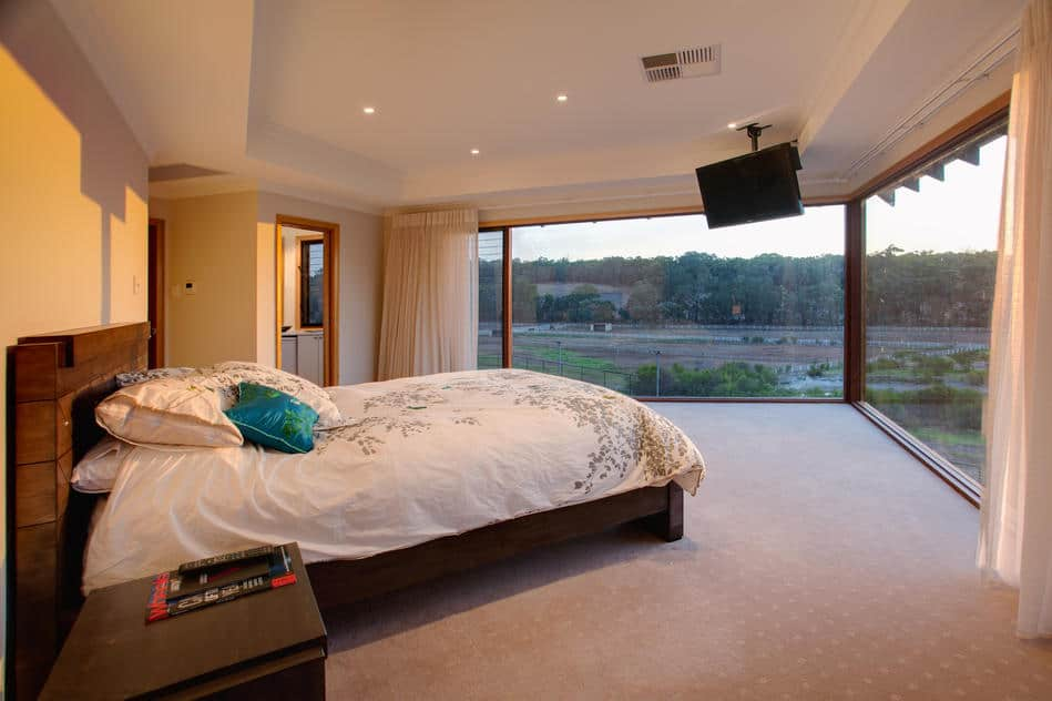 main bedroom with rural views